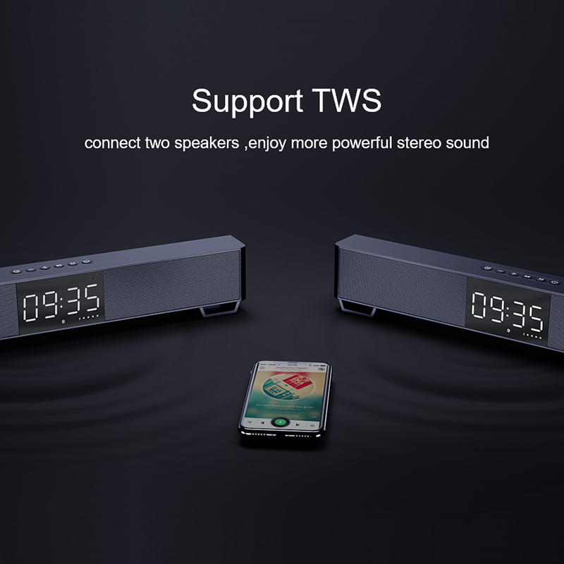 mifa Soundbar K3 Bluetooth Speaker 2 Stereo Sound Big Digital Display Wireless Bluetooth 5.0 Support TWS 4