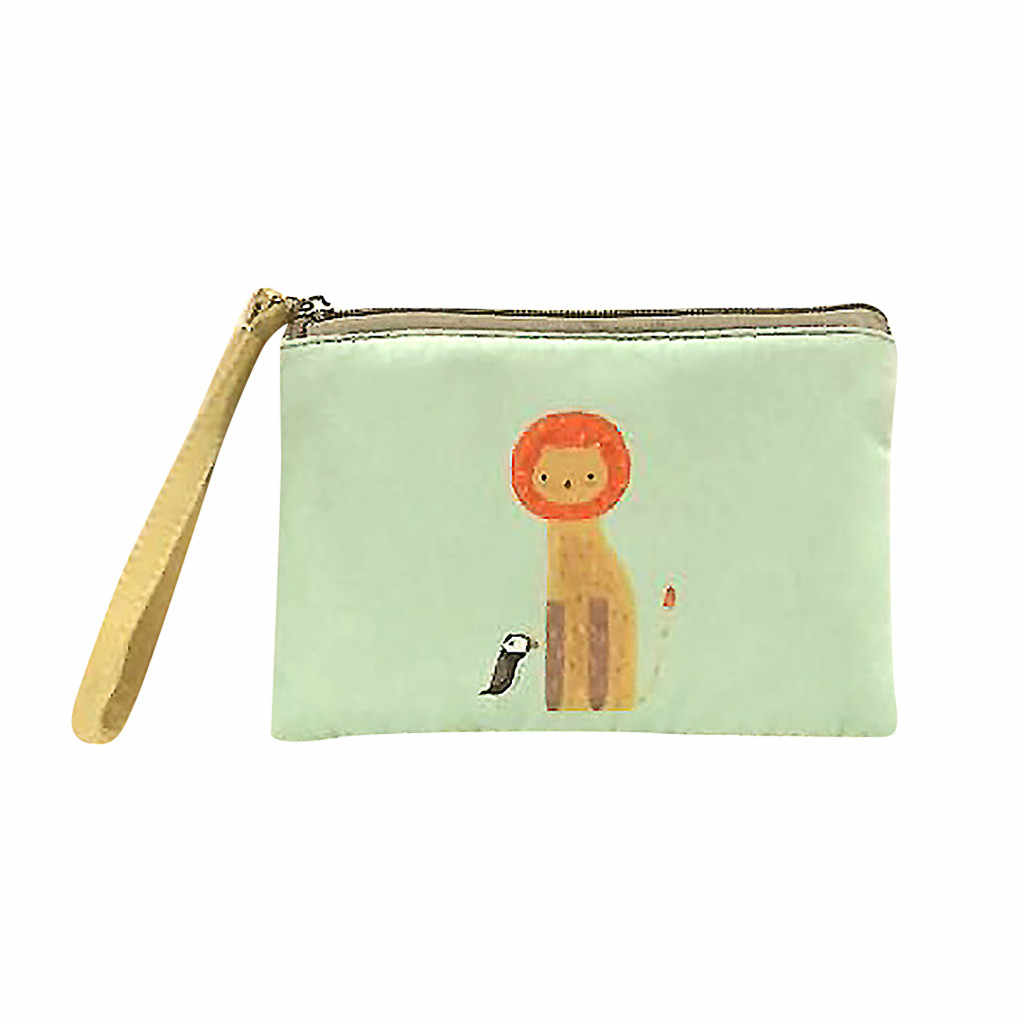 CONEED Wallet Women Purses Cute Canvas Cash Coin Purse Make Up Bag Cellphone Bag With Handle Wallet Bag mini wallet women 2019