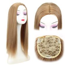Gres Synthetic Hair Topper  22 Long Straight Extension Clip In High Temperature Fiber Women Toupee Middle Part Pieces
