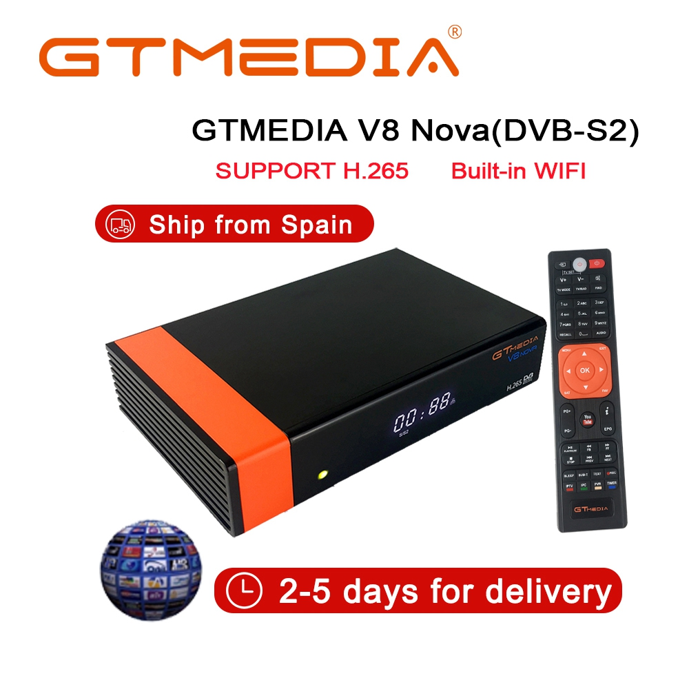 Hot Sale Descodificador Satelite V8 Recptor Tv Digital Receiver Powervu DVB S2 Construido En Wifi Para Receptor De Satélite Tv