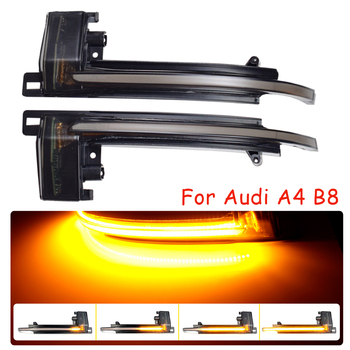 Car Side Wing Dynamic Turn Signal Blinker For Audi A4 A5 B8.5 B8 RS5 RS3 A3 8P S5 RS4 A6 Q3 A8 8K Mirror Flasher Repeater Light a3 a4 a5 carbon fiber replaced side mirror cover for audi a3 s3 8p a4 b8 s4 rs4 2008 2010 a5 s5 8t 2007 2009