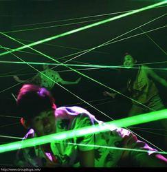 Laser array voor escape room game avonturier prop laser doolhof voor geheime Kamer game intresting en riskeren groene laser game