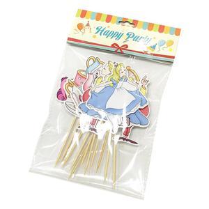 Image 2 - אליס בארץ הפלאות מסיבת עוגת טופר Cupcake ילדה עוגת קישוט מסיבת יום הולדת חד פעמי