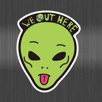 Alien Stickers make face For Kids DIY Creative Graffiti Sticker For Skateboard Luggage Laptop Guitar Fridge Car Doodle Decal