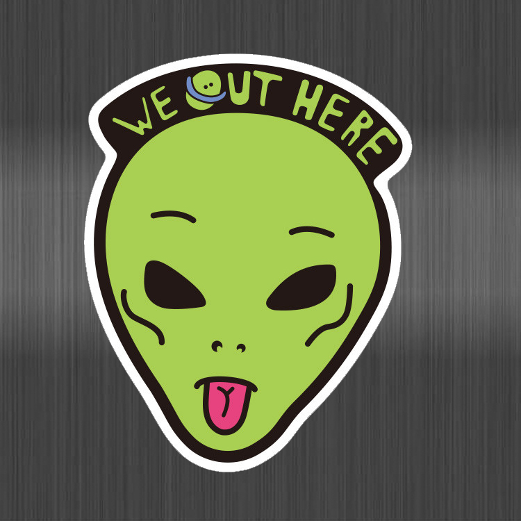 Alien Stickers make face For Kids DIY Creative Graffiti Sticker For Skateboard Luggage Laptop Guitar Fridge Car Doodle Decal image