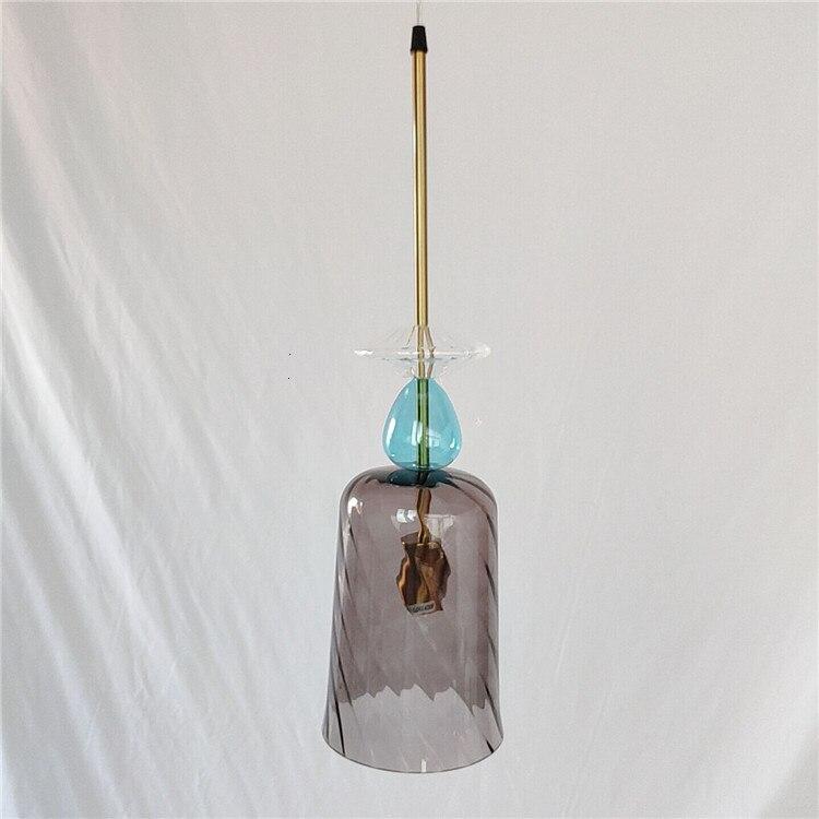 Işıklar ve Aydınlatma'ten Kolye ışıkları'de Çağdaş lamba şekli üfleme cam küre lamba avize Lamparas De Techo Colgante İskandinav title=