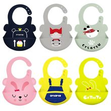 Toddler Baby Bibs Waterproof Infant Food Catcher Pocket Food-Grade Silicone Feeding Saliva Towel