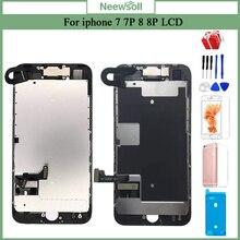הושלם LCD עבור iPhone 7 7 בתוספת 8 8 בתוספת החלפת הרכבה מסך LCD באיכות מעולה עם מצלמה קדמית + רמקול + מתנה