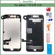 شاشة LCD مكتملة لهاتف iPhone 7 7 Plus 8 8 Plus استبدال مجمع شاشة LCD عالية الجودة مع كاميرا أمامية + سماعة + هدية