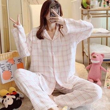Make double cotton gauze confined suits summer postpartum nursing nursing pregnant women during pregnancy leisurewear sweet paja