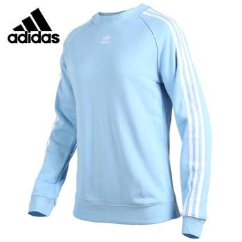 Original Adidas New Arrival TRF CREW SWEAT Womens Long Sleeve Tops Round Collar Running Shirt DH3173