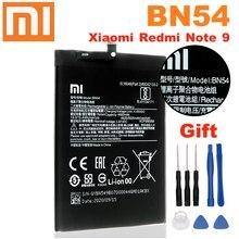 Bateria original bn54 do telefone de xiao mi para xiaomi redmi note 9 bn54 5020mah substituir 3.85v bateria do polímero do lítio-íon + ferramentas