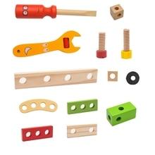 Simulation-Set Toys Screw Repair-Tool Disassembly Wooden Multifunctional Kids DIY Nut