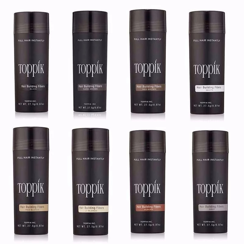 27.5g Toppik Hair Building Fibers 9 Colors Hair Full Hair Instantly Fibras Capilares Fiber Hold Spray Powder Hair Treatment