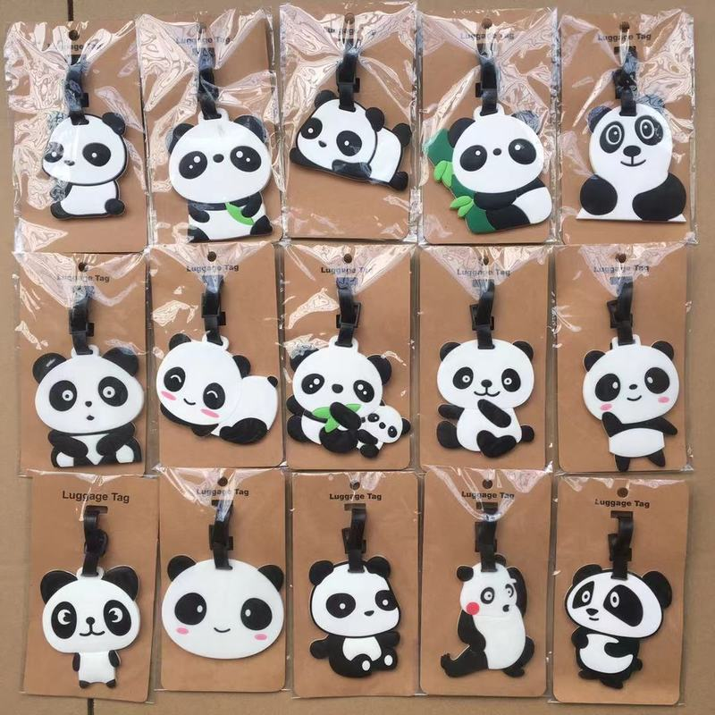 IVYYE Panda Series Anime Travel Accessories Luggage Tag Suitcase ID Address Portable Tags Holder Baggage Labels New