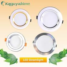 Kaguyahime светодиодный панельные утопленные светильники 3 Вт 5 Вт 10 Вт 15 Вт AC 220 В 240 В Высокая Яркая Круглая Панель-лампа освещение для кухня ванная