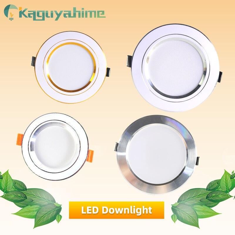 Kaguyahime Panel LED luz empotrada 3W 5W 10W 15W AC 220V 240V de alta brillante lámpara de Panel redondo para el baño de la cocina del hogar