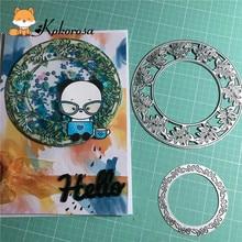 Kokorosa Cutting Dies Metal Leaf Circle Die Scrapbooking Album Card Making Embossing Stencil Diecuts Decoration