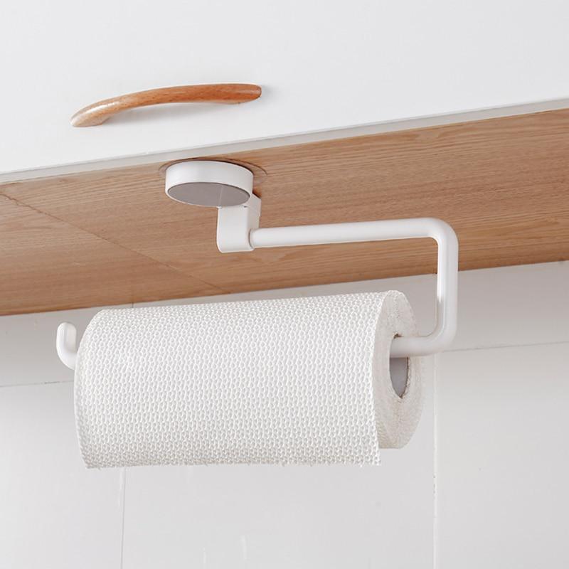 Multi-function Bathroom Towel Paper Roll Rack Vacuum Suction Cup Kitchen Bathroom Holder LB88