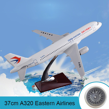 37cm A320 New China Eastern Airlines Plane Model Resin New Eastern Airways Airbus Model Eastern A320 Aircraft Aviation Model Toy