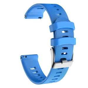 Image 5 - עבור Garmin 245 רצועת WatchBandS סיליקון כפתור רשמי ספורט רצועת עבור Forerunner 245 M/645/Vivoactive3/Vivomove HR צמיד