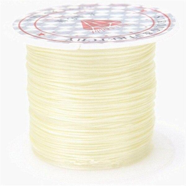 393 дюйма/рулон, крепкий эластичный шнур для бисероплетения с кристаллами, 1 мм, для браслетов, стрейчевая нить, ожерелье, сделай сам, для изготовления ювелирных изделий, шнуры, линия - Цвет: Color 1