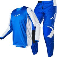 New 2020 DELICATE FOX 180 Prix MX Blue Gear Combo ATV Off Road Motorcycle Motocross Men's Jersey Pant