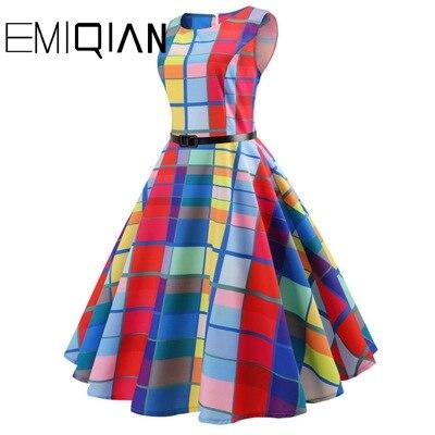 Image 3 - Fashion Women Floral Print Sleeveless Party Dress Simple Knee Length Print Graduation DressHomecoming Dresses   -
