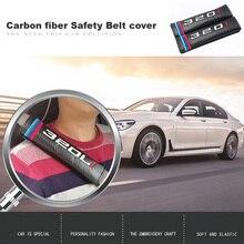цена на Car accessories Carbon fiber Safety Belt cover for BMW 320i 330i 320Li 520Li 525Li car belt cover