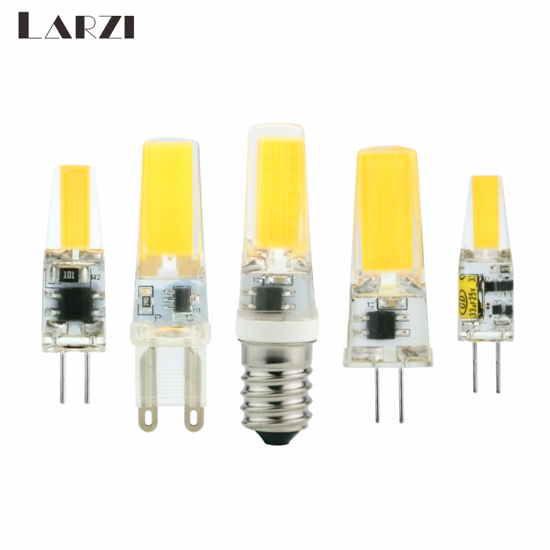 LARZI <font><b>LED</b></font> G4 G9 E14 Lamp Bulb AC/DC Dimming <font><b>12V</b></font> 220V 3W 6W 9W COB SMD <font><b>LED</b></font> Lighting Lights replace Halogen Spotlight Chandelier image