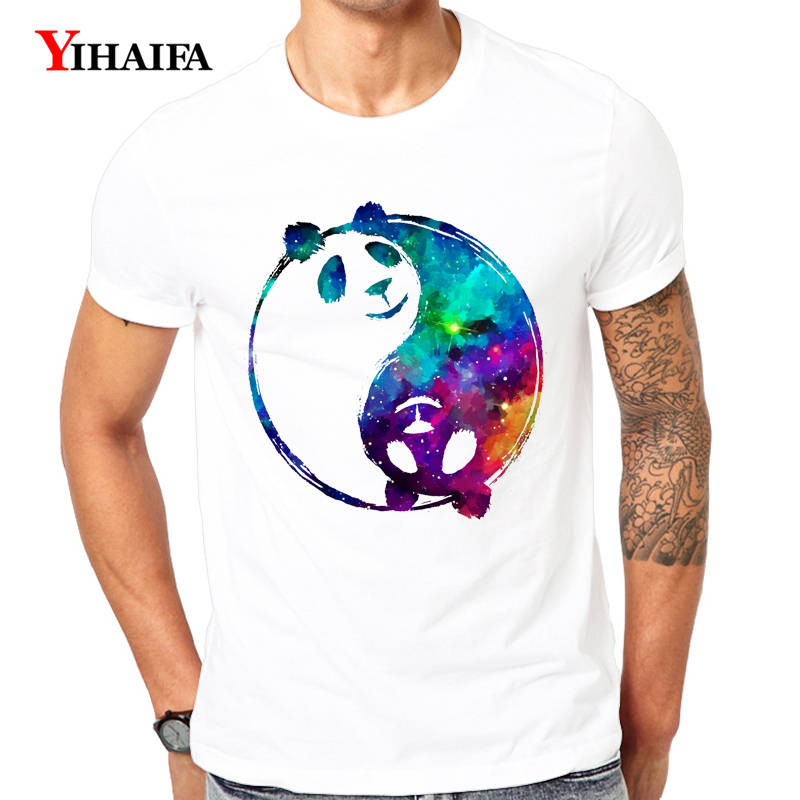 Men T Shirt 3D Print Galaxy Rotate Panda Graphic Tees Casual Summer Tee Shirts O Neck Short Sleeve Unisex White Tops in T Shirts from Men 39 s Clothing