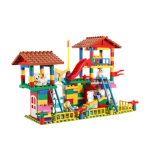 Kyara 238PCS Seesaw Construction Building Blocks Compatible Plastic DIY Assembly Bricks Educational Toys for Children Gifts