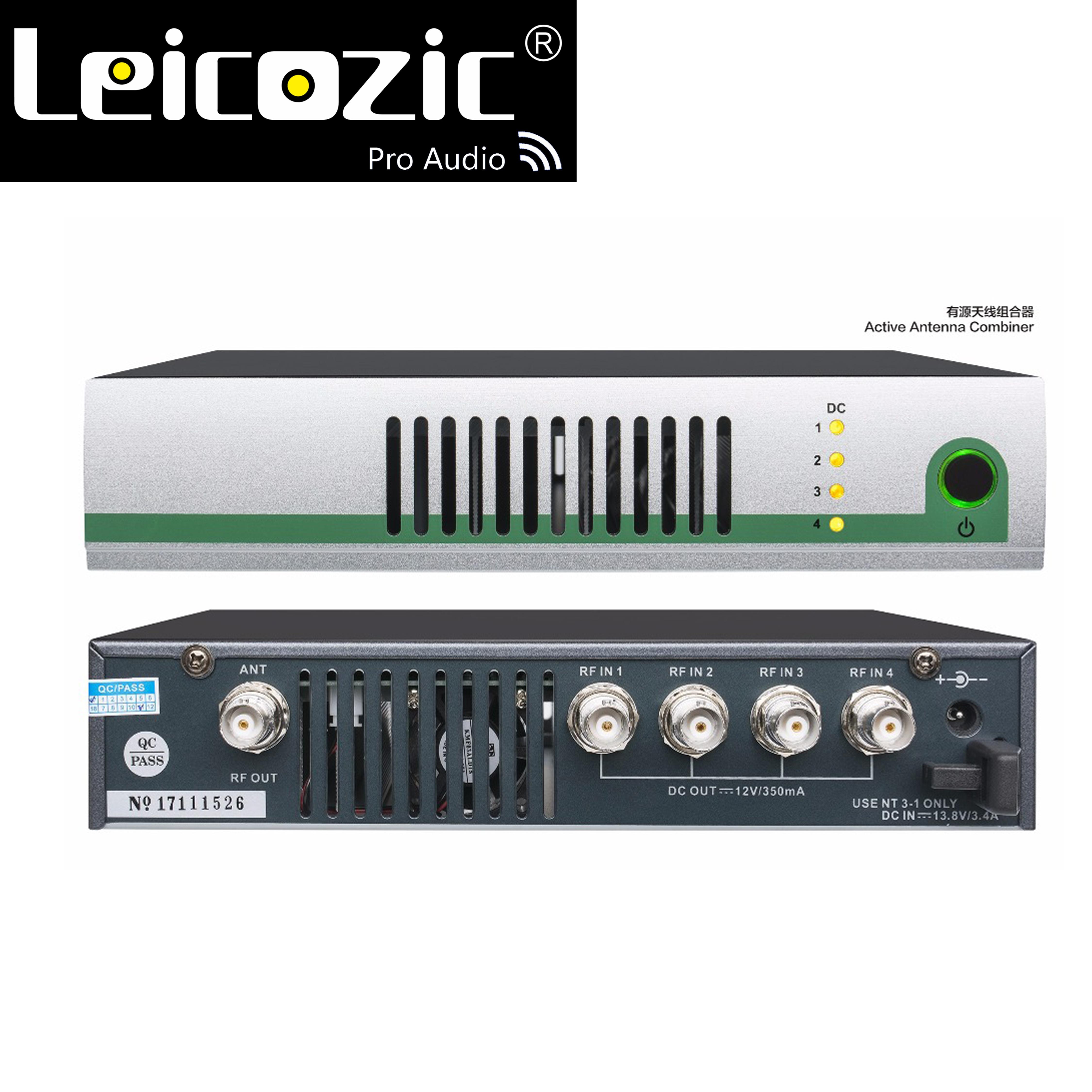 Leicozic UHF Antenne Power Verteilung System 500-950 mhz Breitband Aktive Antenne Combiner für in-ear-monitor SR2050 IEM