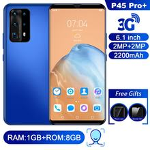P45 Pro+ Smartphone 1+8G 6.1 Inch Android Smart Phone Ultra-Thin Large Screen Full Screen Frequency Dual Card Dual Standby