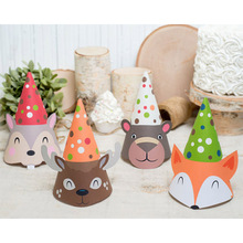 Cake-Caps Party-Hat Jungle Hair-Dress-Decoration Birthday Animal Funny Baby Children