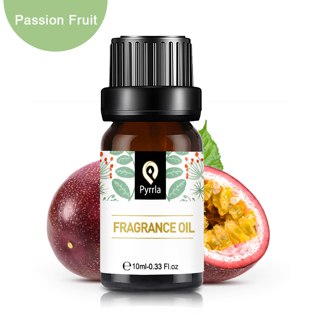 Pyrrla 10ml Passion Fruit Fragrance Oil Honeysuckle Black Orchid Natural Aroma Essential Oil For Aromatherapy Diffuser Air Fresh