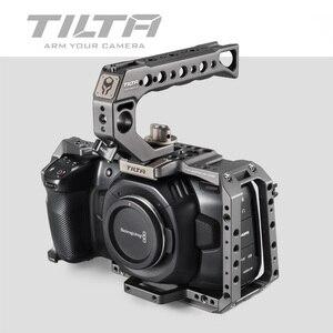 Image 2 - Tilta BMPCC 4K 6KกรงTA T01 B Gยุทธวิธีสำเร็จรูปหรือสีเทาเต็มกรงSSDไดรฟ์ผู้ถือที่จับด้านบนblackMagic BMPCC 4K 6K