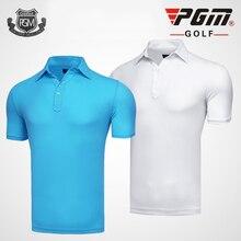 PGM, высокое качество, топы, сухая футболка, Солнцезащитная спортивная одежда, одежда для гольфа, Мужская футболка с коротким рукавом, рубашка-поло для тенниса, летняя Новинка