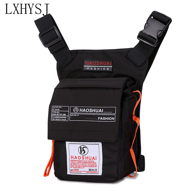 Men Waterproof Nylon Drop LegsBag Fashion Hip Waist Bags Multifunction Tactical Riding Motorcycle Men's Shoulder Messenger Bag