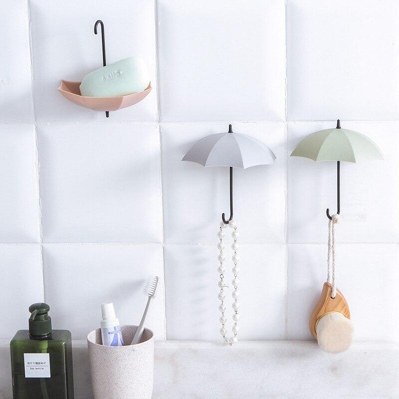 סט מחזיקי מפתחות לקיר בצורת מטריות 2