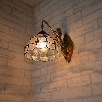 vintage wall lamp crystal aisle  corridor  living room  lampara pared