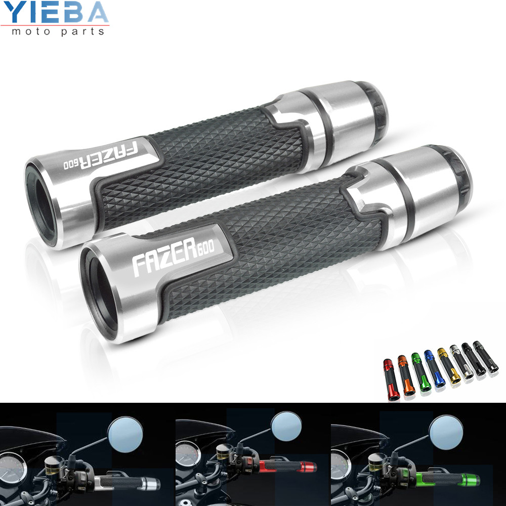 Motorcycle Accessories CNC Handlebar Hand bar Grips Handle grip parts For <font><b>YAMAHA</b></font> <font><b>FAZER</b></font> <font><b>600</b></font> 1998 1999 <font><b>2000</b></font> 2001 2002 2003-2004 image