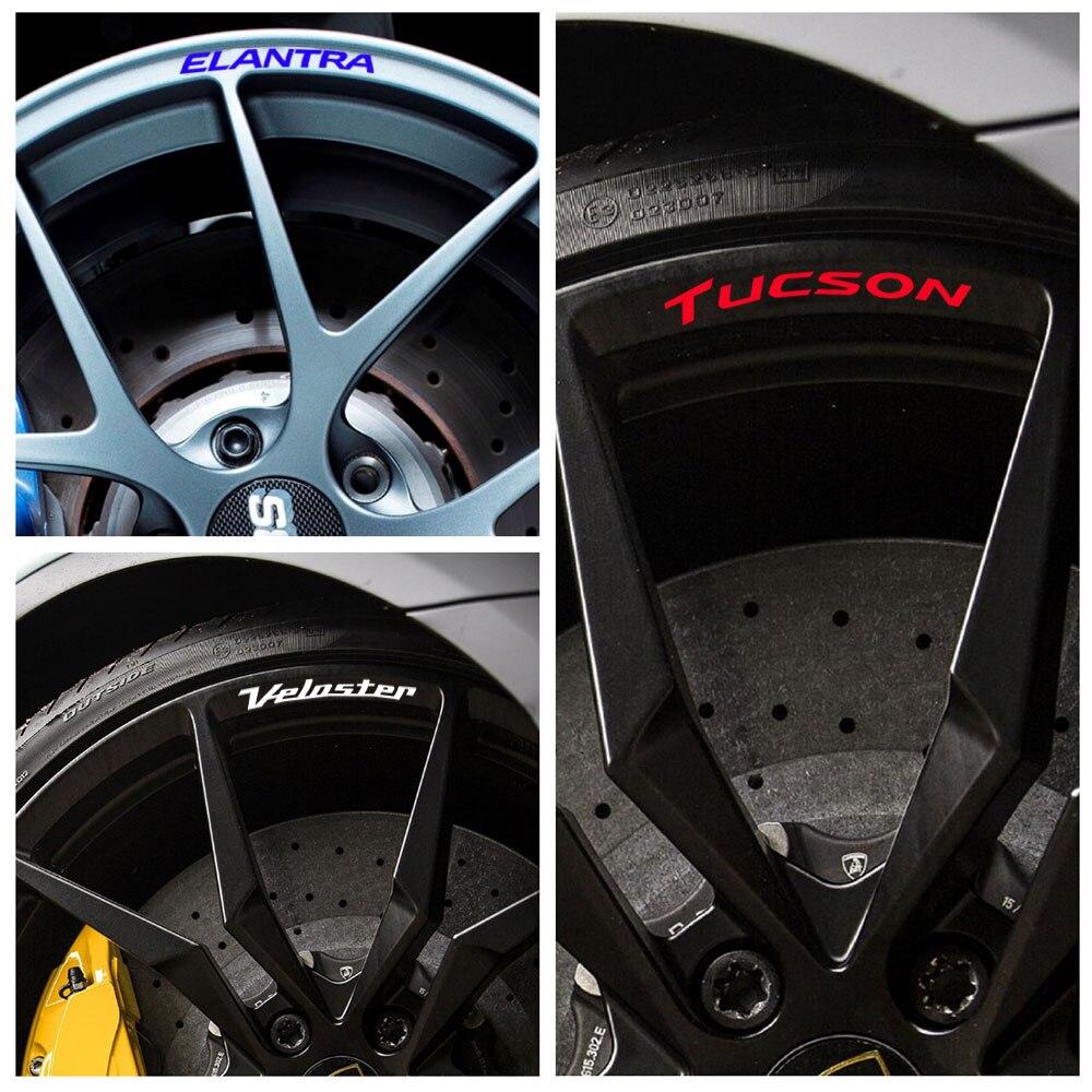 Для Hyundai Elantra Accent Tucson Veloster Solaris Genesis сантафе колесные диски из алюминиевого сплава колеса с наклейкой наклейки