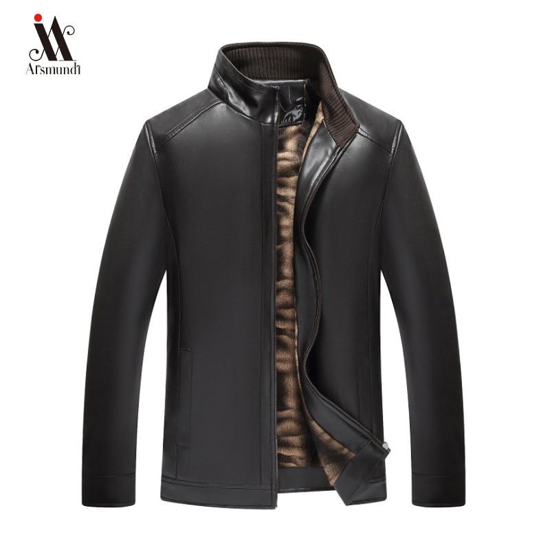 Men Autumn Winter New Casual Vintage Biker Leather Jackets Coat Men Fashion Outfit Bomber Motorcycle PU Leather Jacket Coat