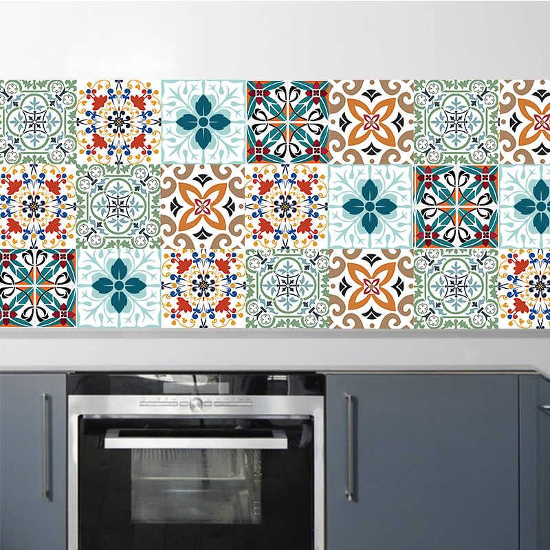 Maroc Phong Cách Nhiều Màu Sắc Hoa Văn Cứng Sàn Gạch Trang Trí Tường Nhà Bếp Phòng Tắm Bồn Cầu Trang Trí Nghệ Thuật Tranh Tường
