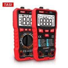 Multimetro digitale professionale TASI ad alta precisione 2000/6000/10000 conta 600V AC DC Ohm Hz NCV Multimetro misuratore di tensione