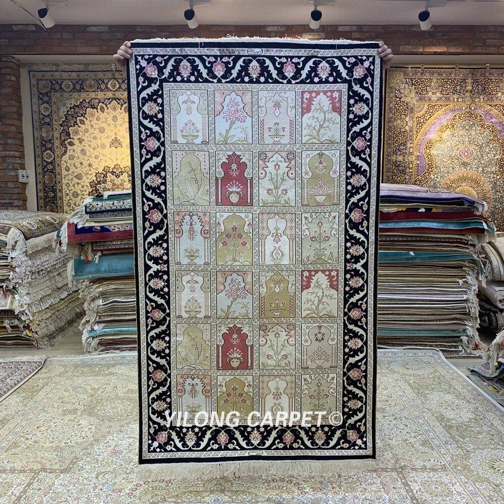 Yilong 3'x5 'quatre saisons tapis persans faits à la main tapis de soie Antique turc (HF246B)