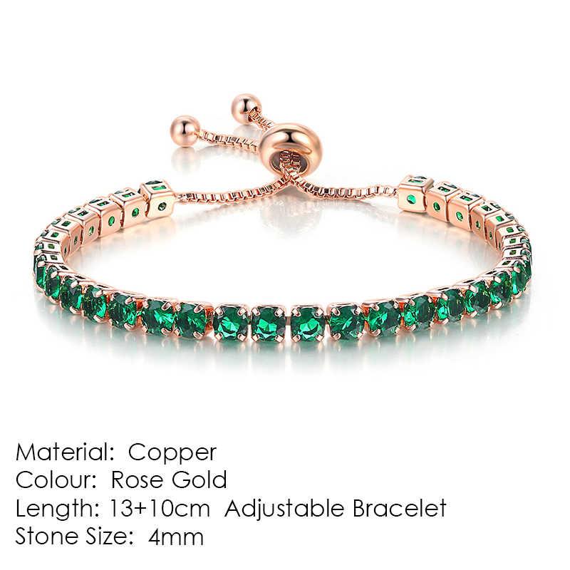 ZHOUYANG браслет женский роскошный кубический цирконий браслеты Регулируемые Разноцветные кристаллы розовое золото цвет модные ювелирные изделия H131