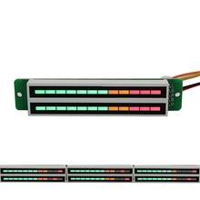 Mini LED Music Dual 12 Level Indicator VU Meter Stereo Amplifier Board Professional Level Volume Display Adjustable Light Speed new audio music spectrum 6 modes level display screen indicator diy meter kit for diy amplifiers digital music display splitter