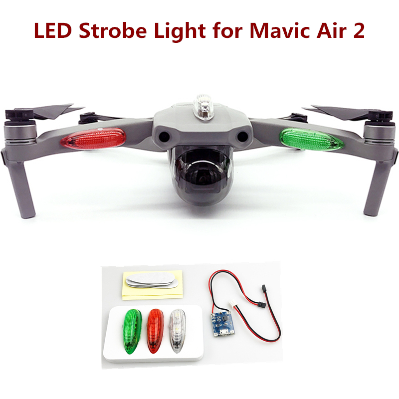 LED Lights Night Flying For DJI Mavic Mini/Pro/2/Air/Air 2 Chargeable Battery Indicator Led Drone Navigation Light Strobe Lamp